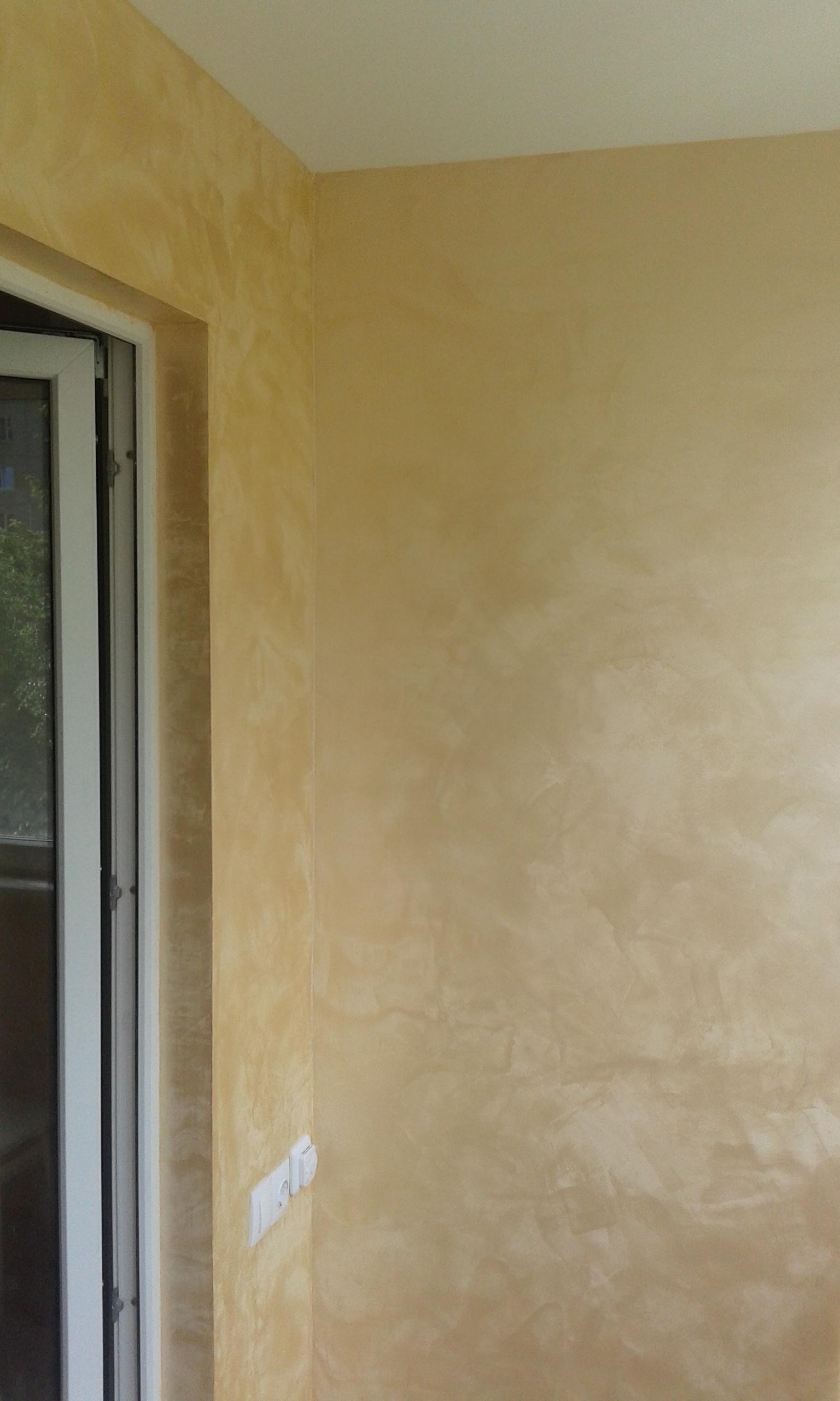 Ремонт балкона своими руками декоративной штукатуркой